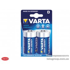 батарейка Varta High Energy Mono LR20D, 1.5В, 2 шт