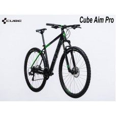 "велосипед 27,5"" Cube Aim Pro black-n-green 2017 18"""