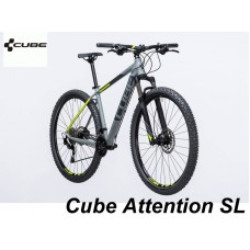 "велосипед 29"" Cube Attention SL grey-n-flashyellow 2017 рама 21"