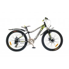 "Велосипед 24"" Optimabikes FLORIDA AM 14G DD St черно-зелен. 2015"